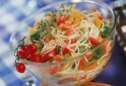 Receta: ensalada de la huerta con espaguetis