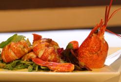 Receta: ensalada de bogavantes con salsa de naranja
