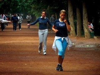 El entrenamiento de los corredores pierde kilos