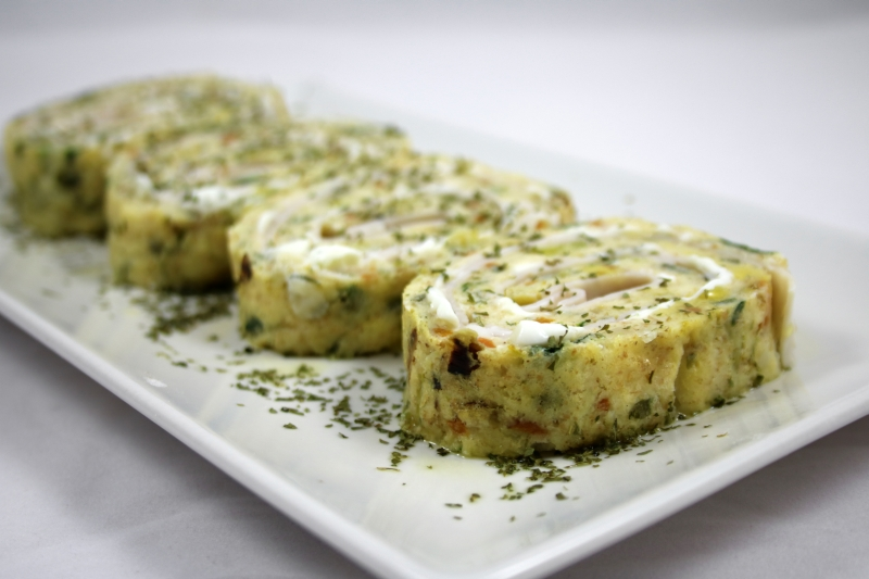 Rollo de tortilla proteico