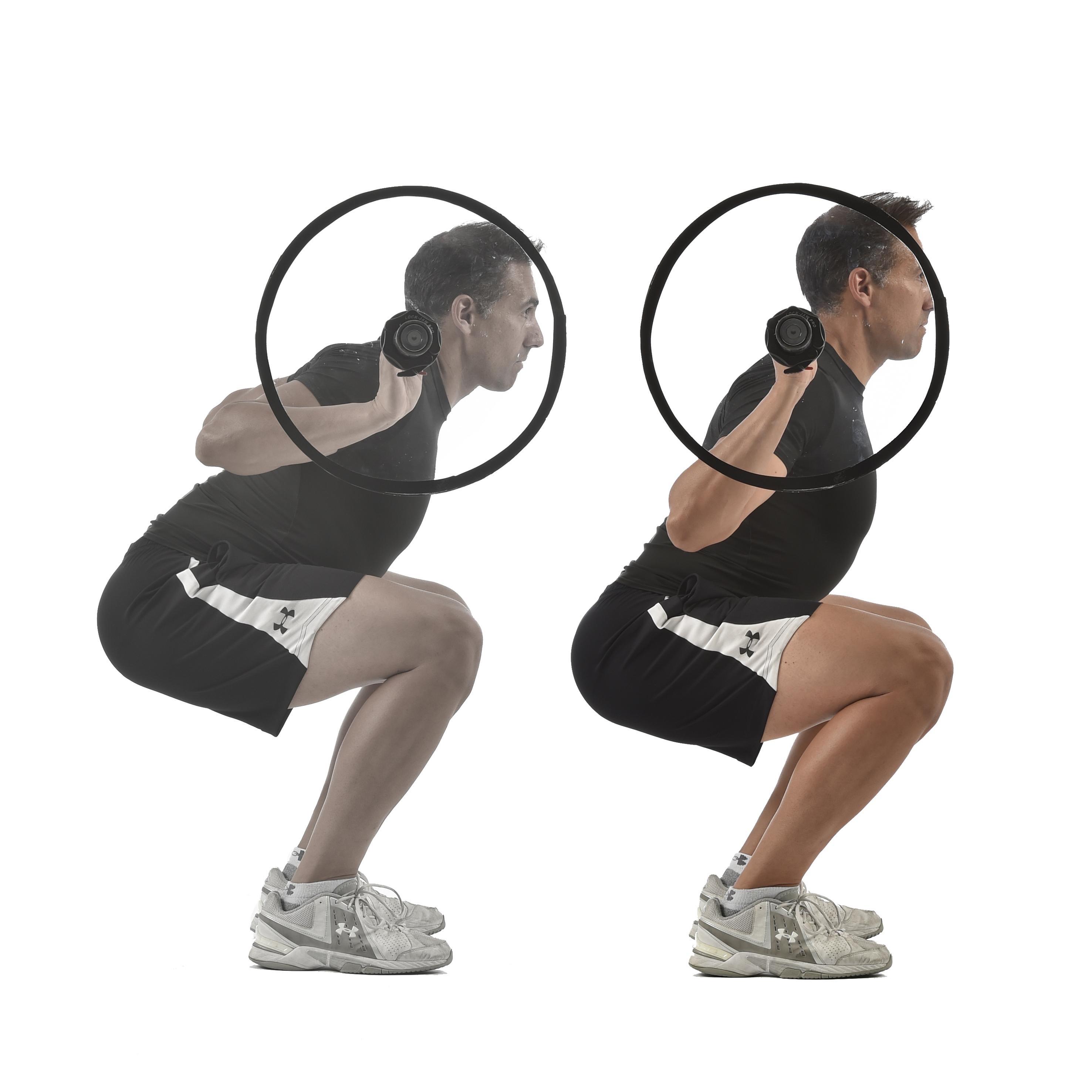 La rodilla en el squat, sobrepasa al pie