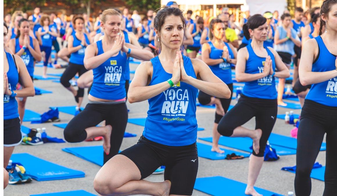 Las  mejores fotos del Yoga Run Solán de Cabras