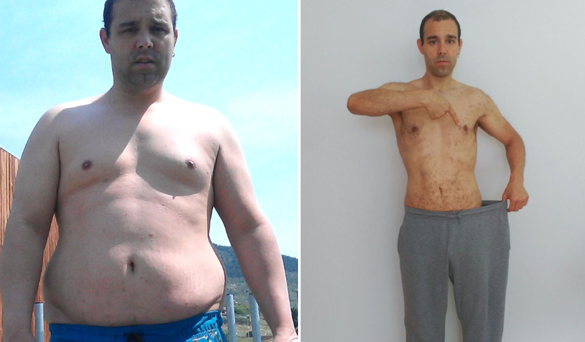 Club pérdida de peso: Santiago Romero, de 115 a 72 kg... ¡43 kilos!