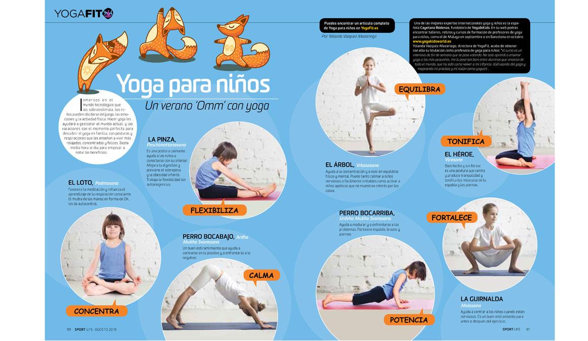 Yoga para niños, 7 posturas que les ayudan