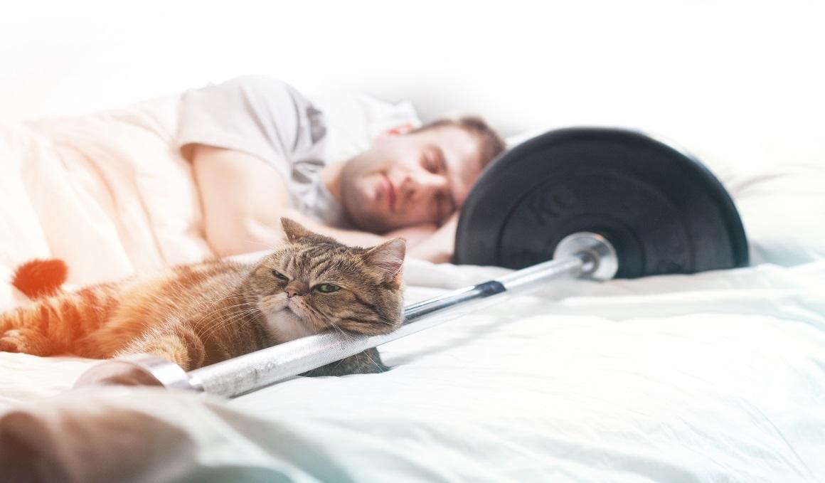 Gana masa muscular durmiendo