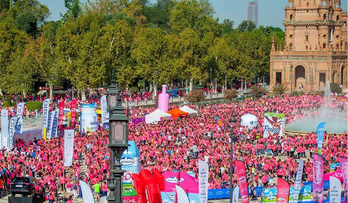 Sevilla fue una Marea Rosa con casi 10000 participantes