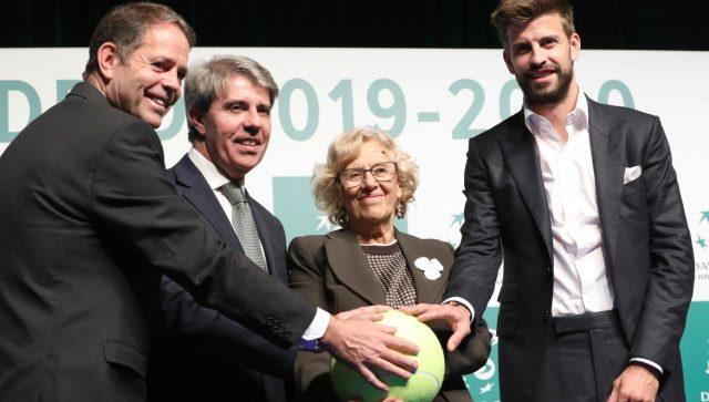 Carmena y Piqué presentan la Copa Davis en Madrid para los próximos dos años
