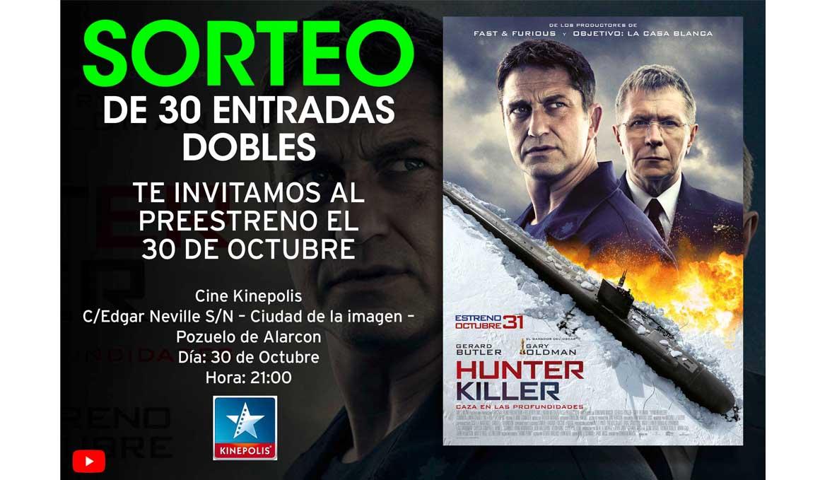 Sorteamos 30 entradas dobles para el preestreno de la película Hunter Killer