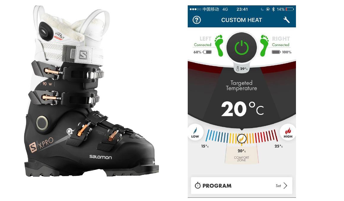 ¡Este invierno vas a poder calentar tus botas de esquí! Con la app Custom Heat Connect de Salomon