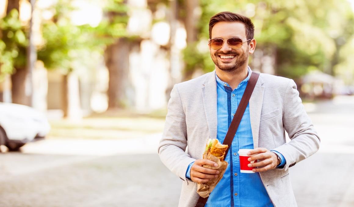 Sal a andar 5 minutos antes de comer