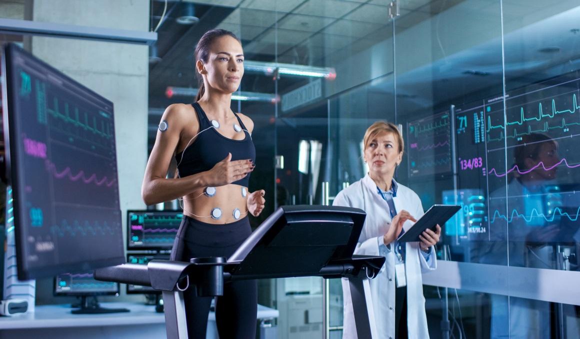 El deportista en el cardiólogo