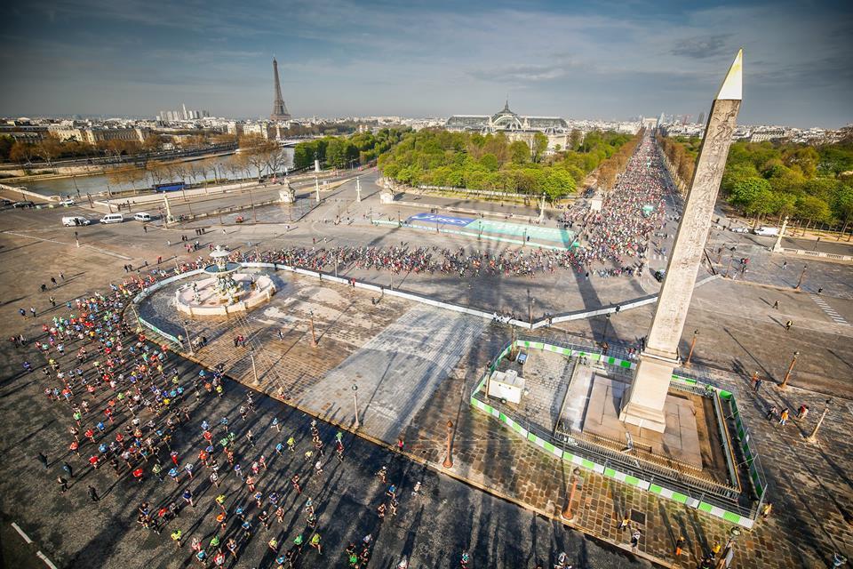 Al maratón de Paris con Martín Fiz