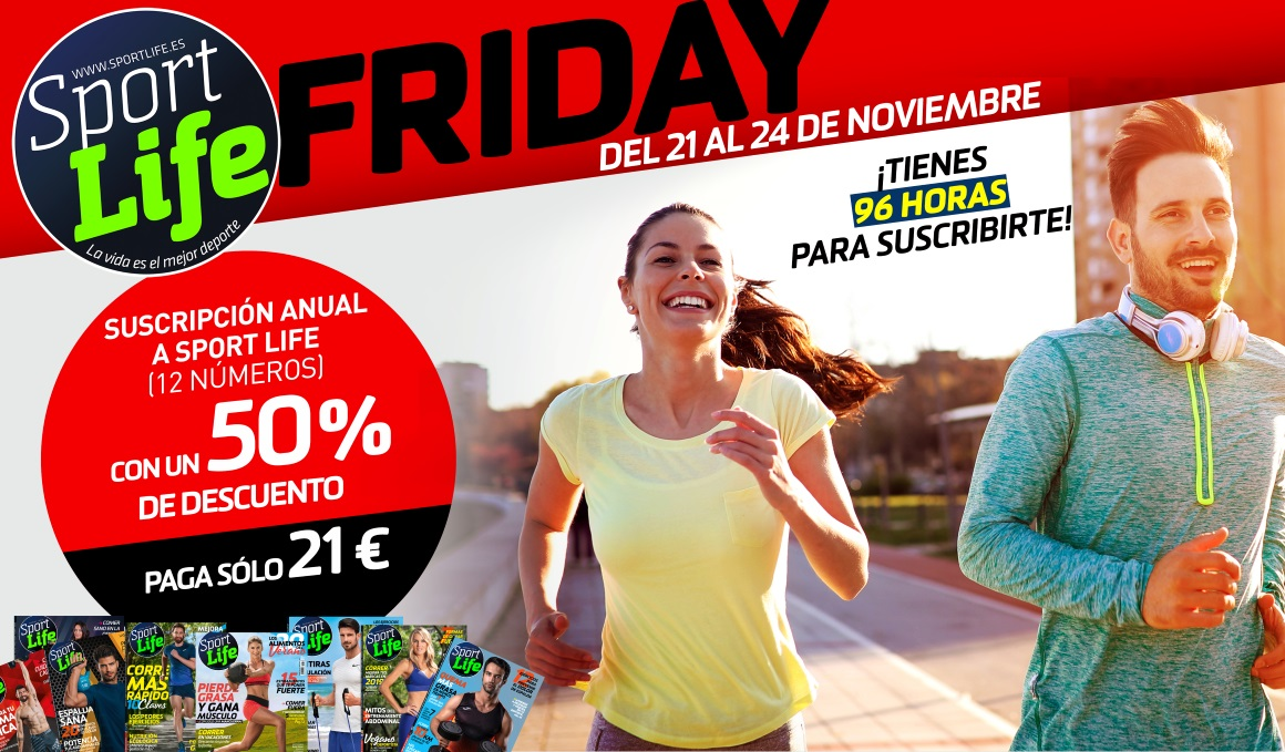 ¡Aprovecha el Black Friday en Sport Life! 50% en tu suscripción o un fitball de regalo
