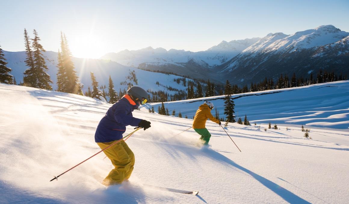 Mejora el control del core en el esquí