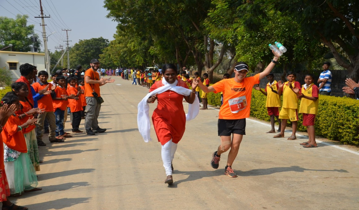 La solidaridad en India se viste de atletismo