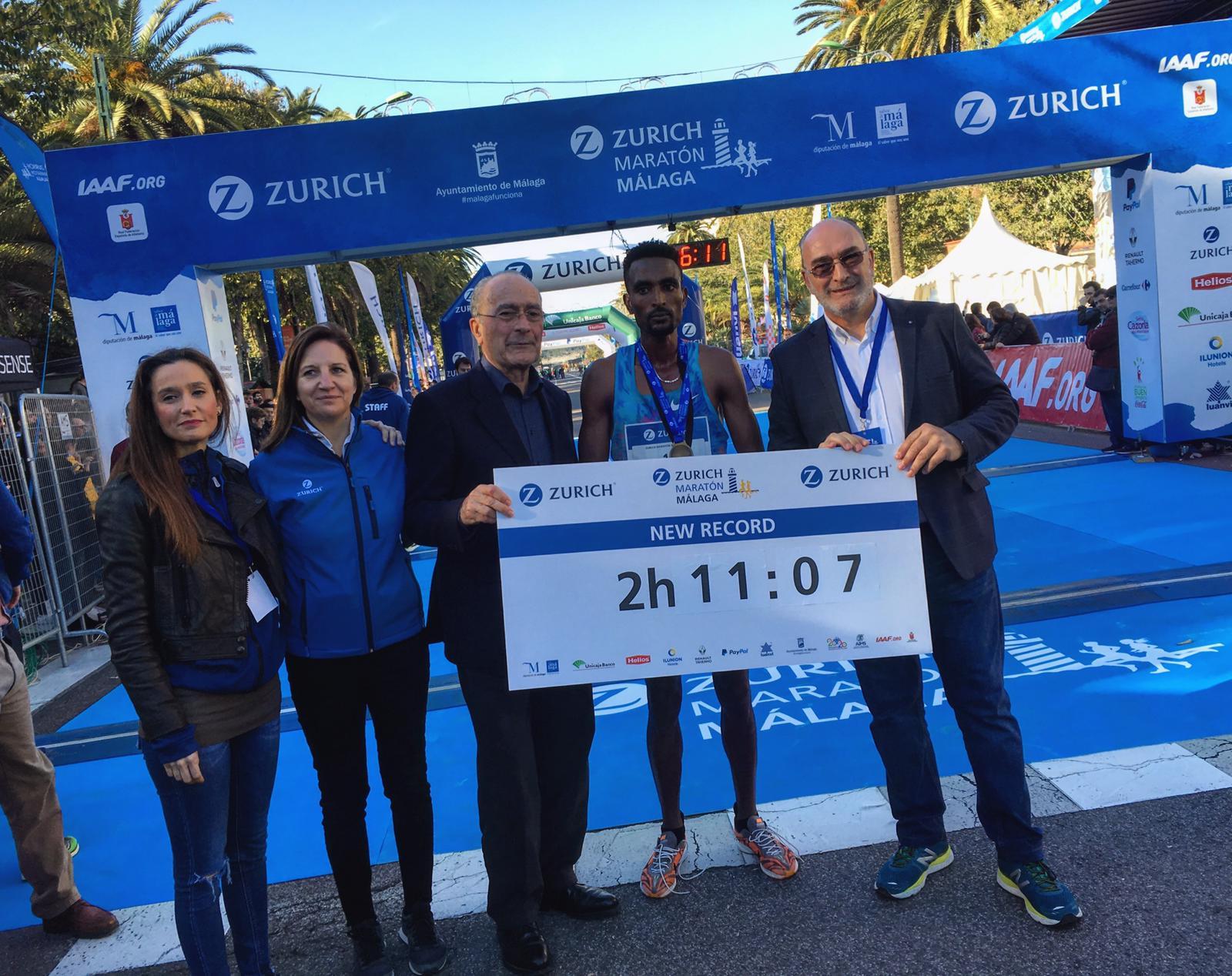 Nuevo récord en el Zurich Maratón de Malaga