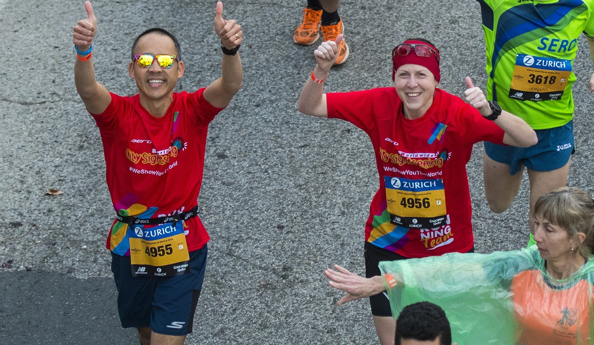 City Sightseeing llevará a 3 corredores al Zurich Maratón de Sevilla