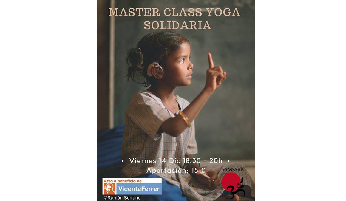 Masterclass de Yoga Solidario para la Fundación Vicente Ferrer