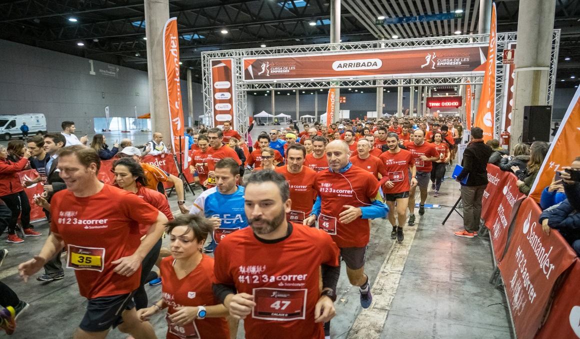 La Santander Cursa de les Empreses reunió 3000 participantes, doblando a la anterior edición