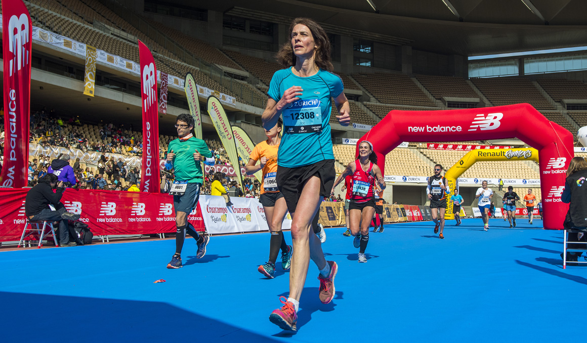Los corredores solidarios del Zurich Maratón de Sevilla