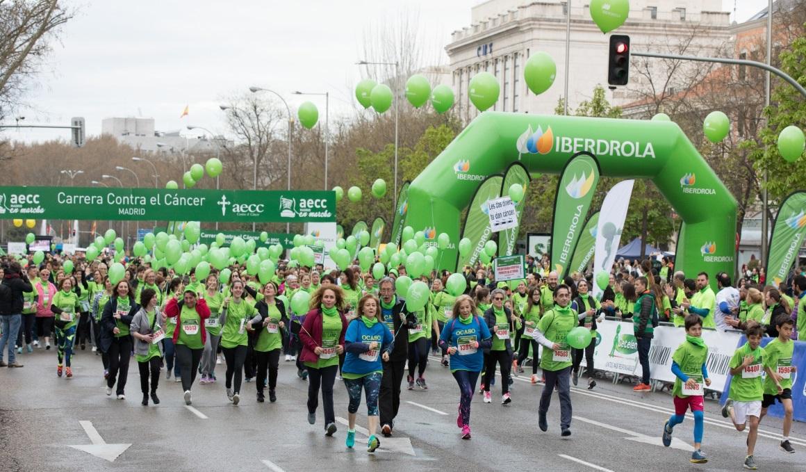 La VI carrera AECC Madrid en Marcha Contra el Cáncer teñirá la capital de verde