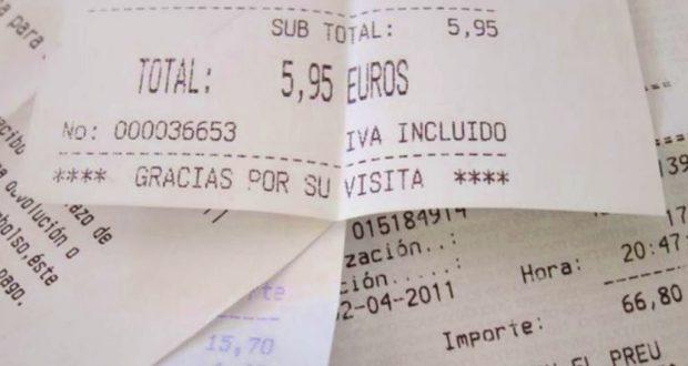 EL 90% de los tickets de compra contienen una sustancia cancerígena