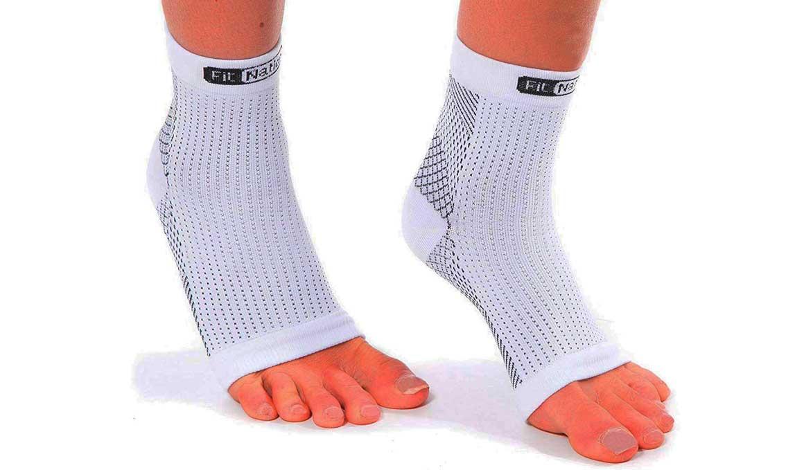 El calcetín de compresión para la fascitis plantar