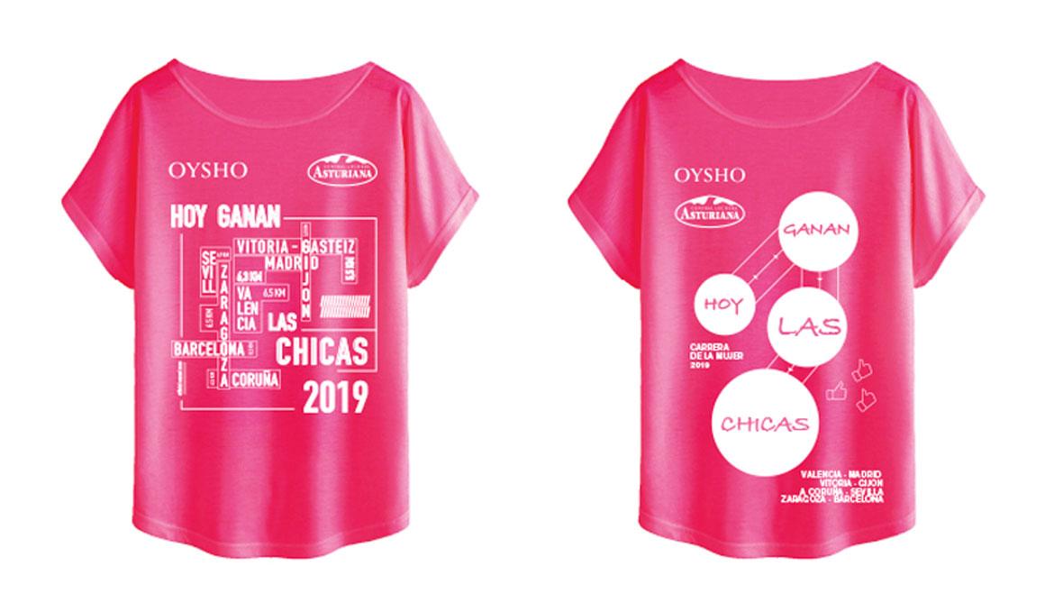 Ayúdanos a elegir la camiseta Oysho de la Carrera de la Mujer 2019