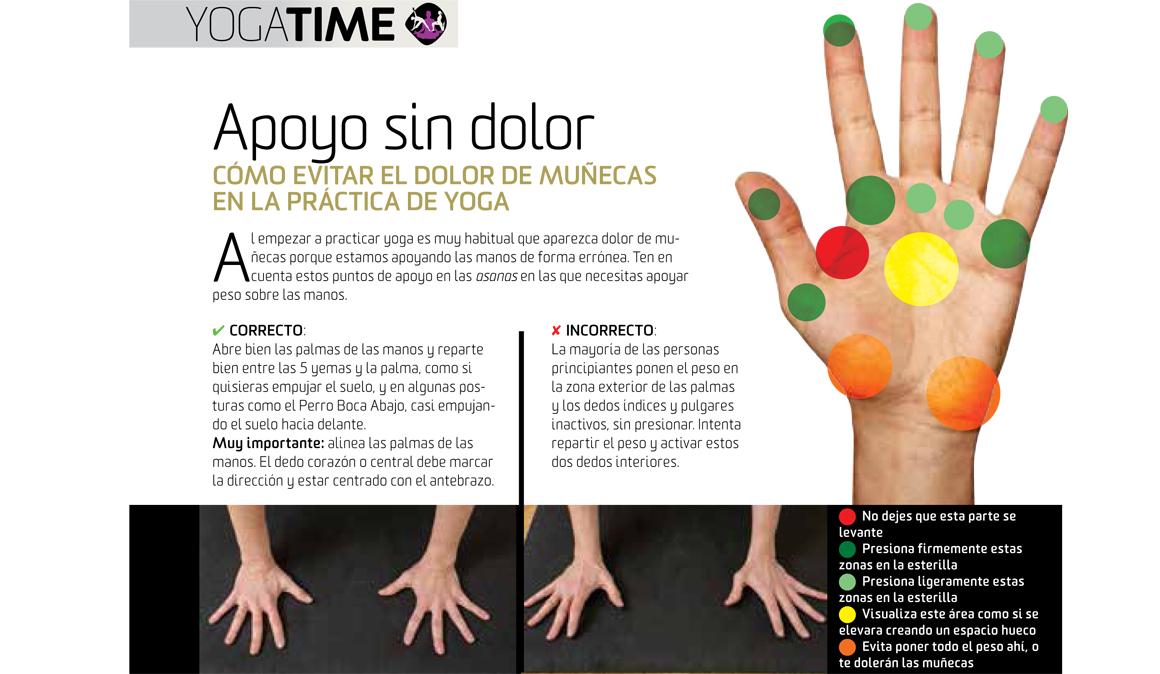 Como evitar el dolor de muñecas en la práctica de yoga