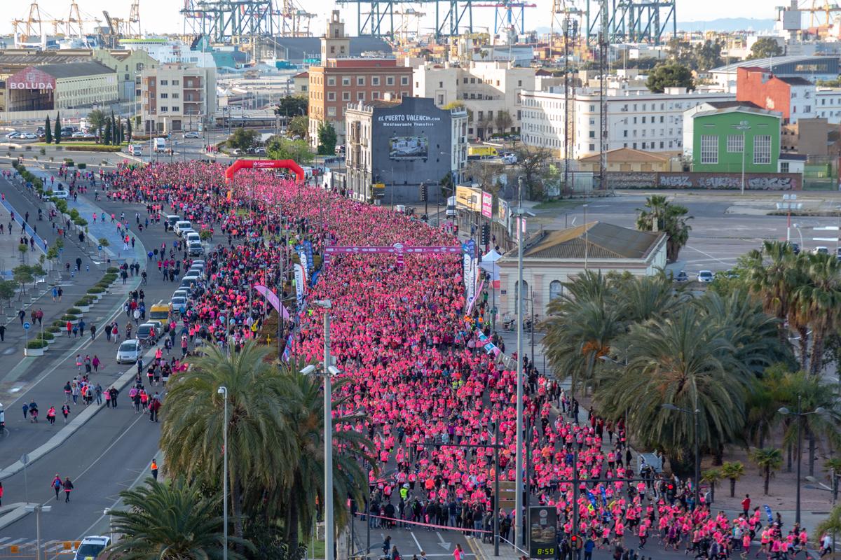 ¡Una marea rosa de récord en Valencia!
