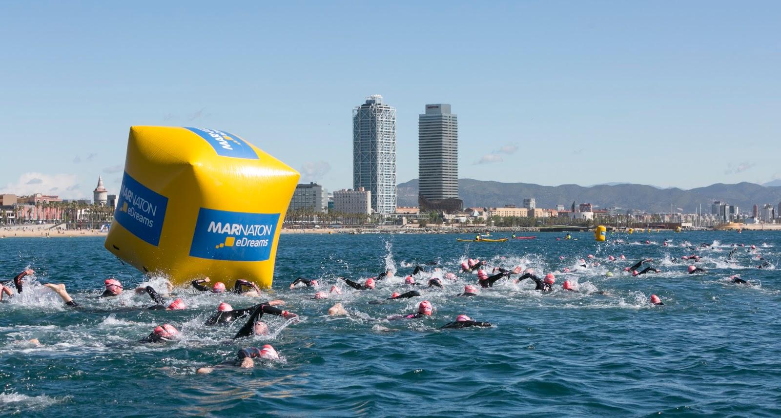 La travesía de natación de Barcelona