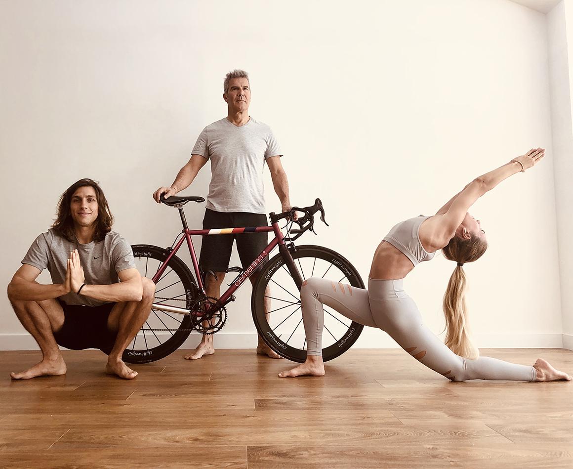 Evento yoga para ciclistas