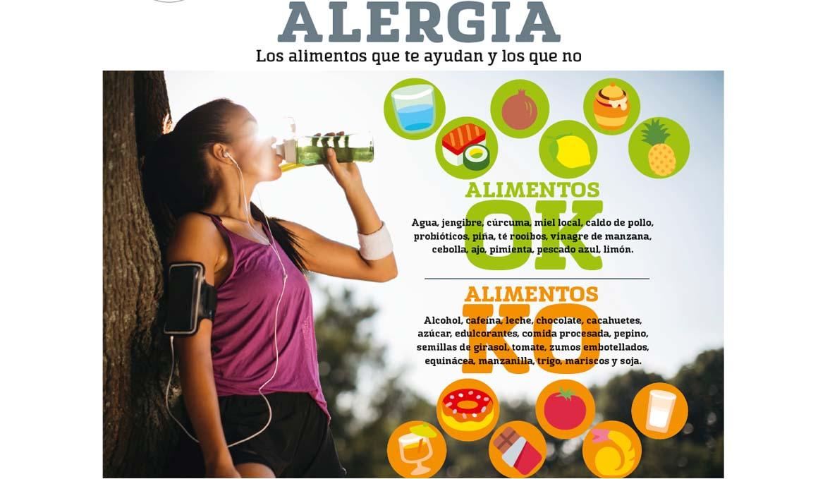 Alergia, los alimentos que te ayudan y los que no