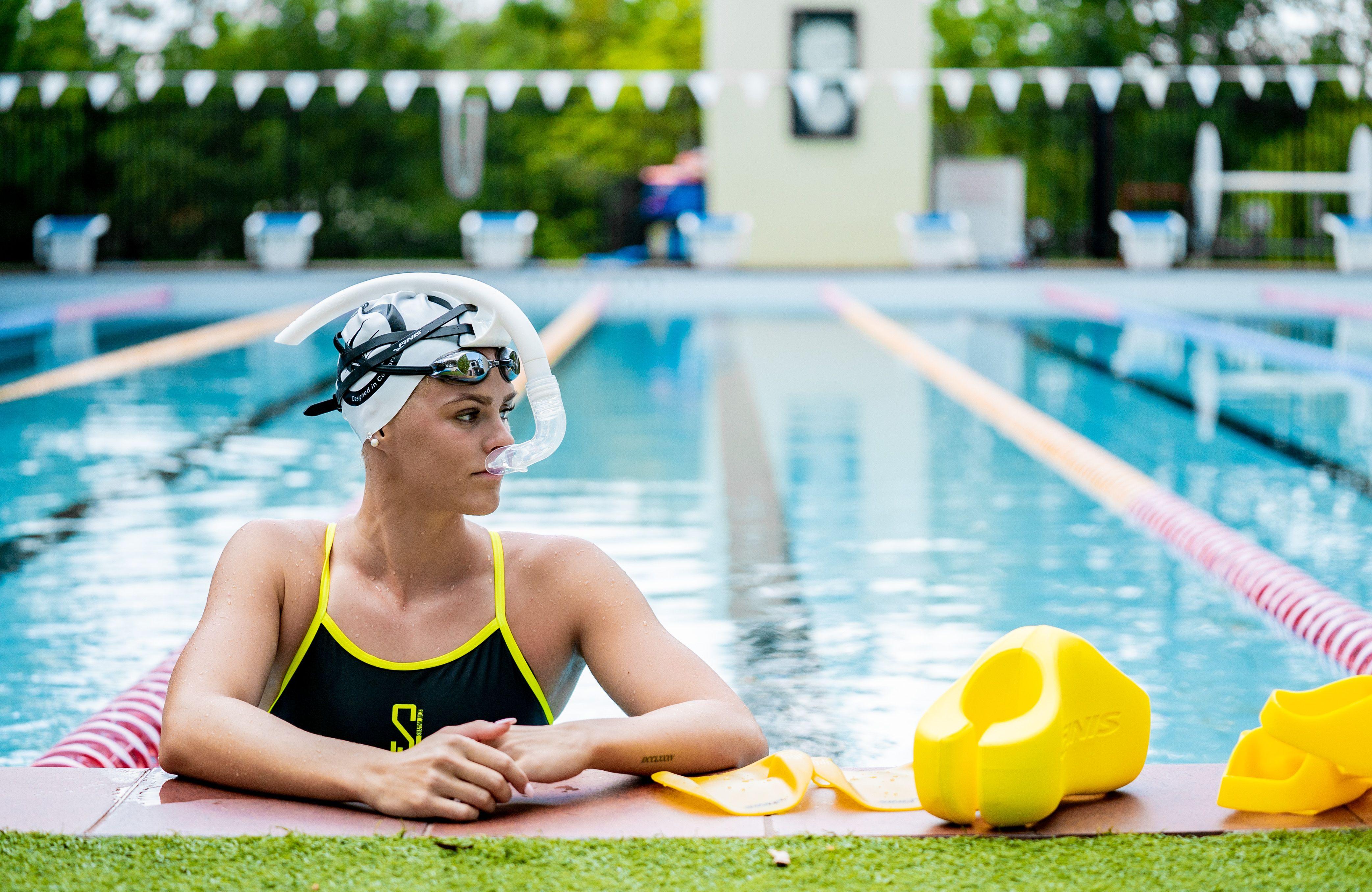 Finis inventa el snorkel para nadadores sin soporte de cabeza