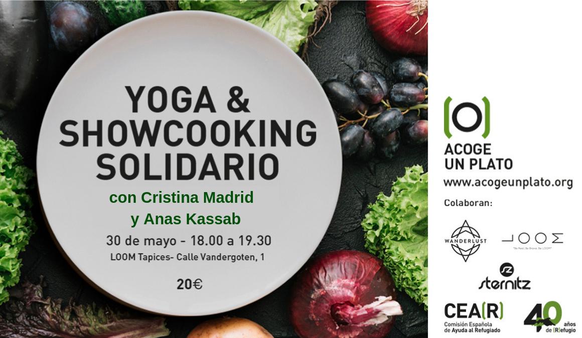 Yoga & Showcooking Solidario el 30 de mayo en Madrid