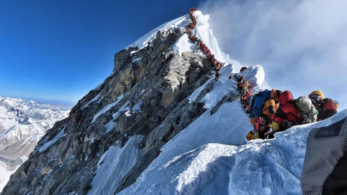 Conseguido: ya tenemos nuestro primer gran atasco en el Everest