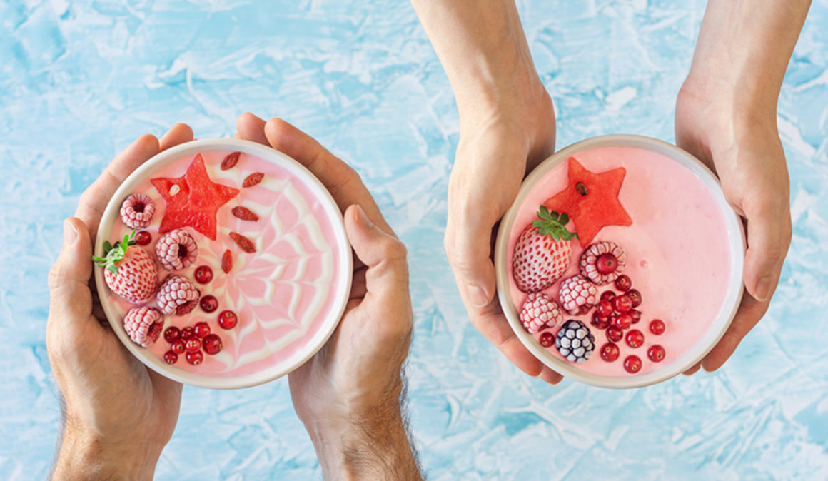 Receta de helado proteico de fresas para ganar masa muscular