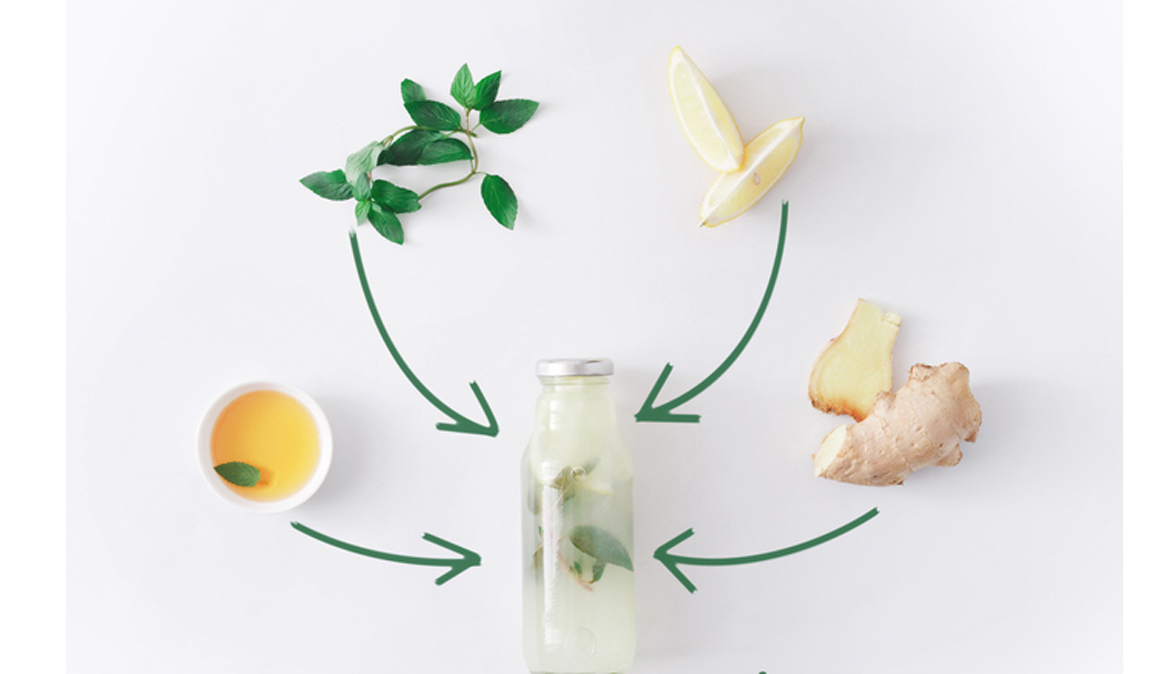 Receta de limonada hidratante salada de jengibre y limón para deportistas