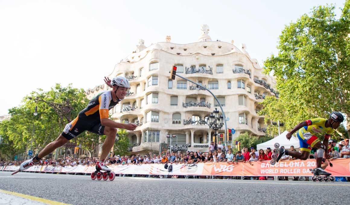 Daniel Greig y Geiny Pájaro nuevos campeones del mundo de los 100 metros sprint en los WRG de Barcelona