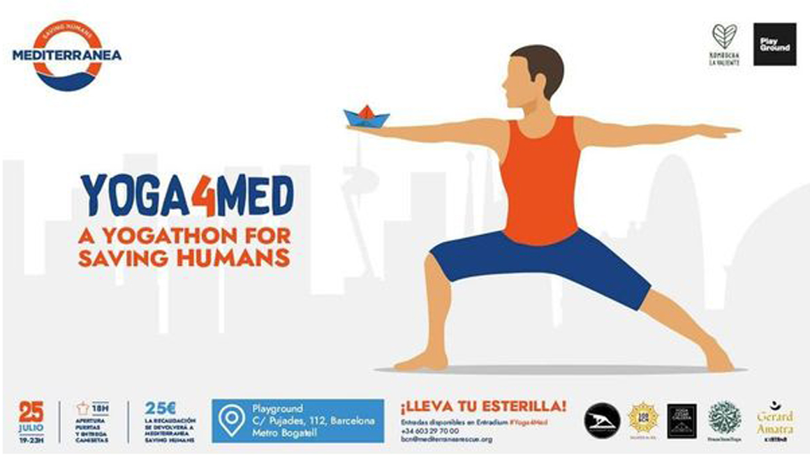 Yoga4Med, el primer maratón de Yogaactivism para salvar vidas en el Mediterráneo