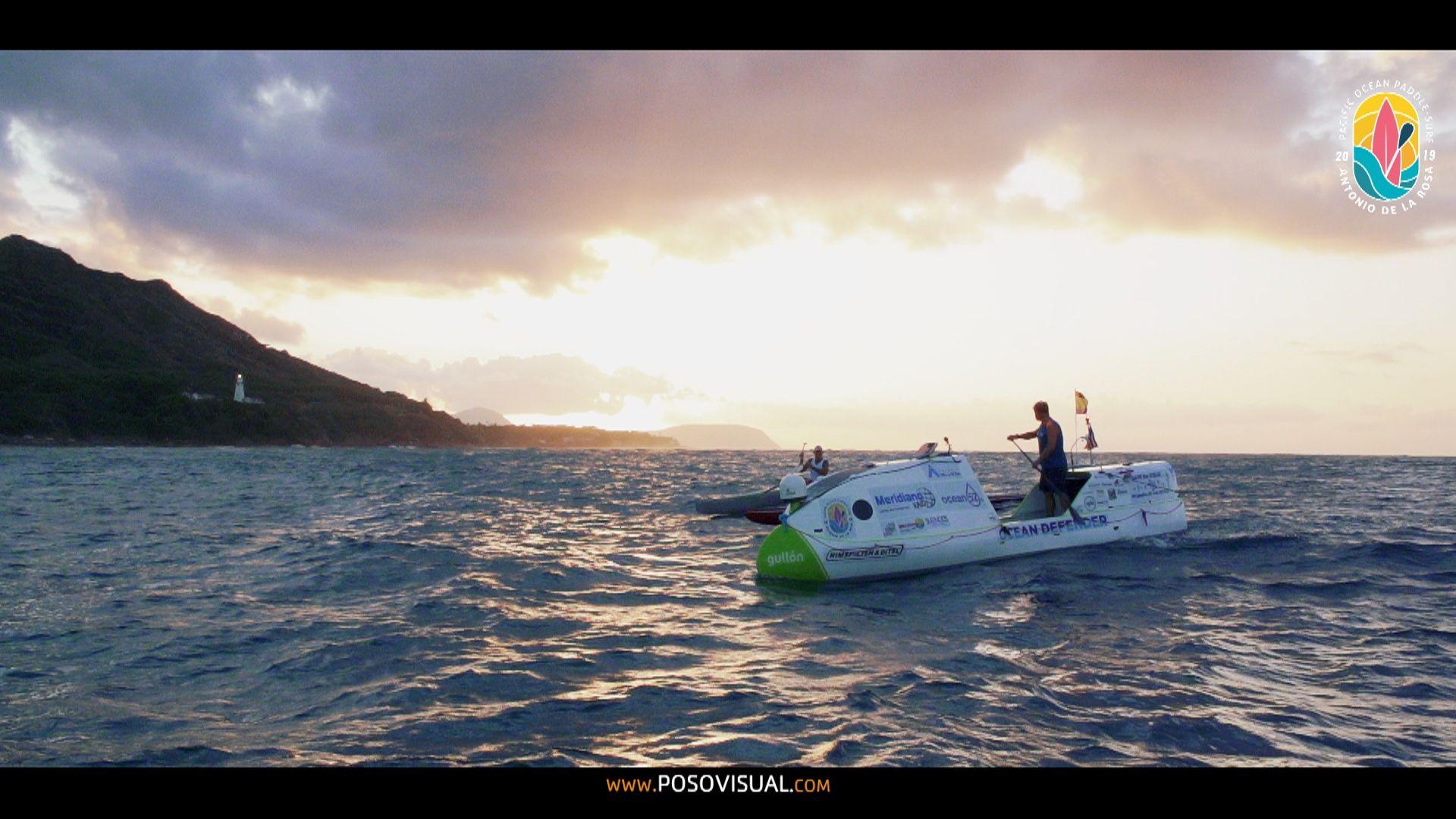 Antonio de la Rosa, el primero en cruzar el Pacífico en paddle surf