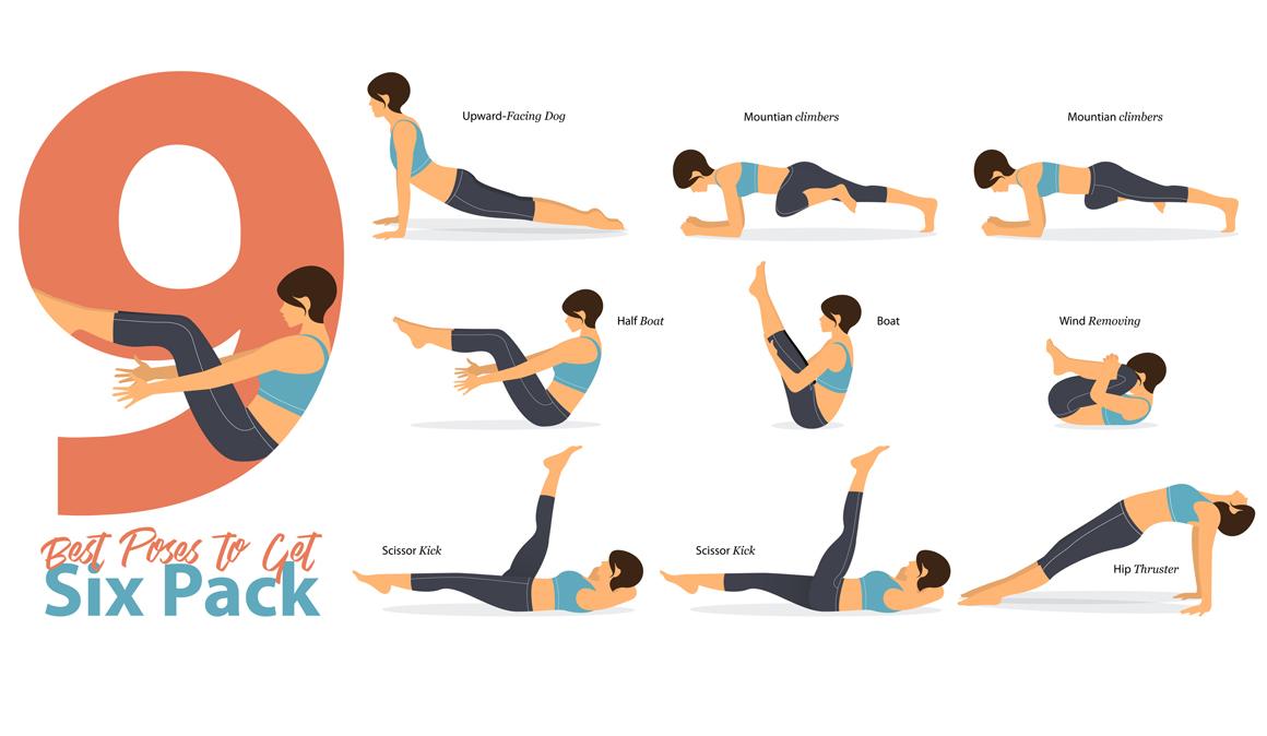 9 asanas de yoga para trabajar los abdominales