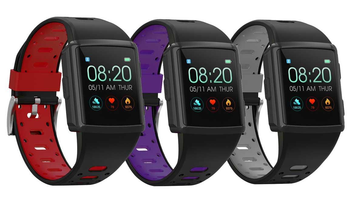 El pulsómetro óptico smartwatch con GPS de 56 €
