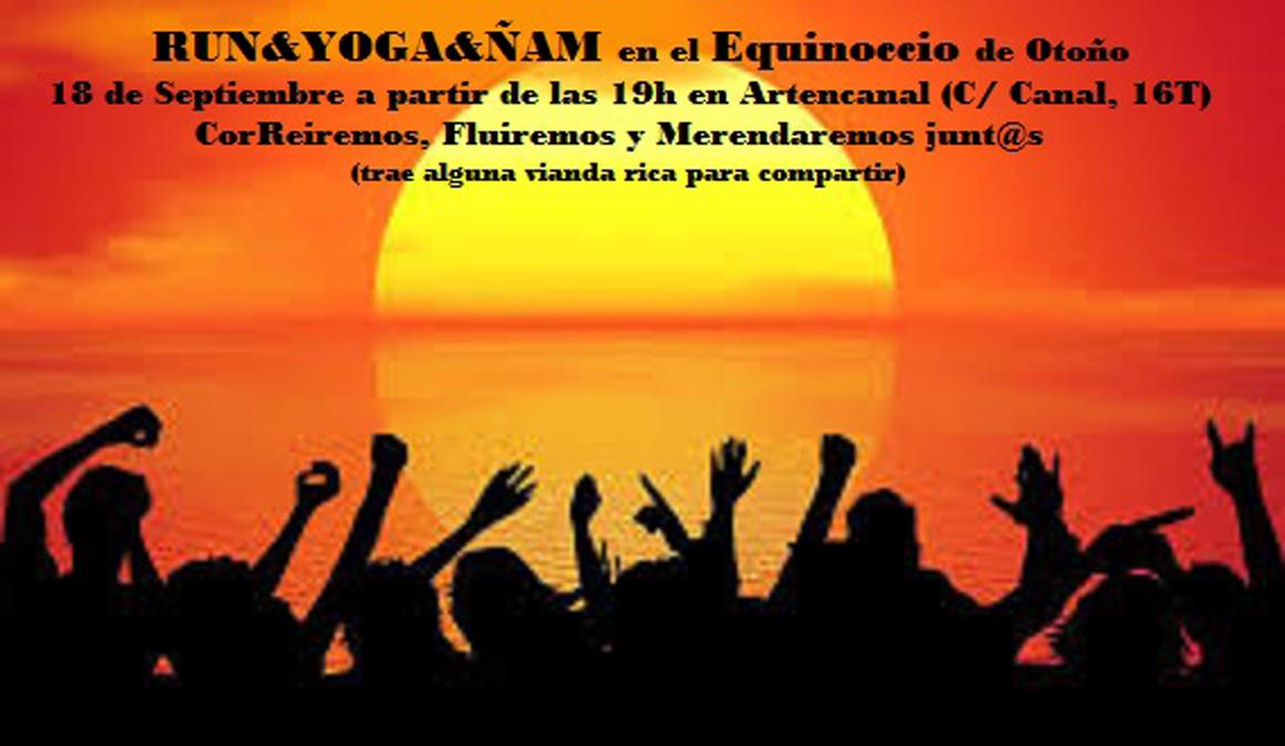 Run Yoga Ñam en Valladolid para el Equinoccio de Otoño