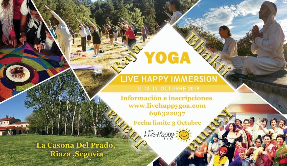 Retiro de Yoga y Meditación con LiveHappy en Riaza, Segovia