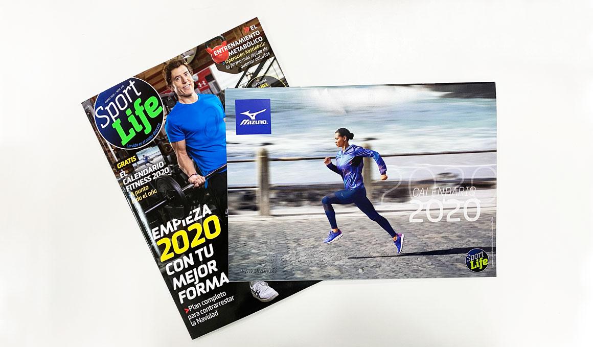 ¡No te pierdas el calendario fitness 2020 de Mizuno y Sport Life!