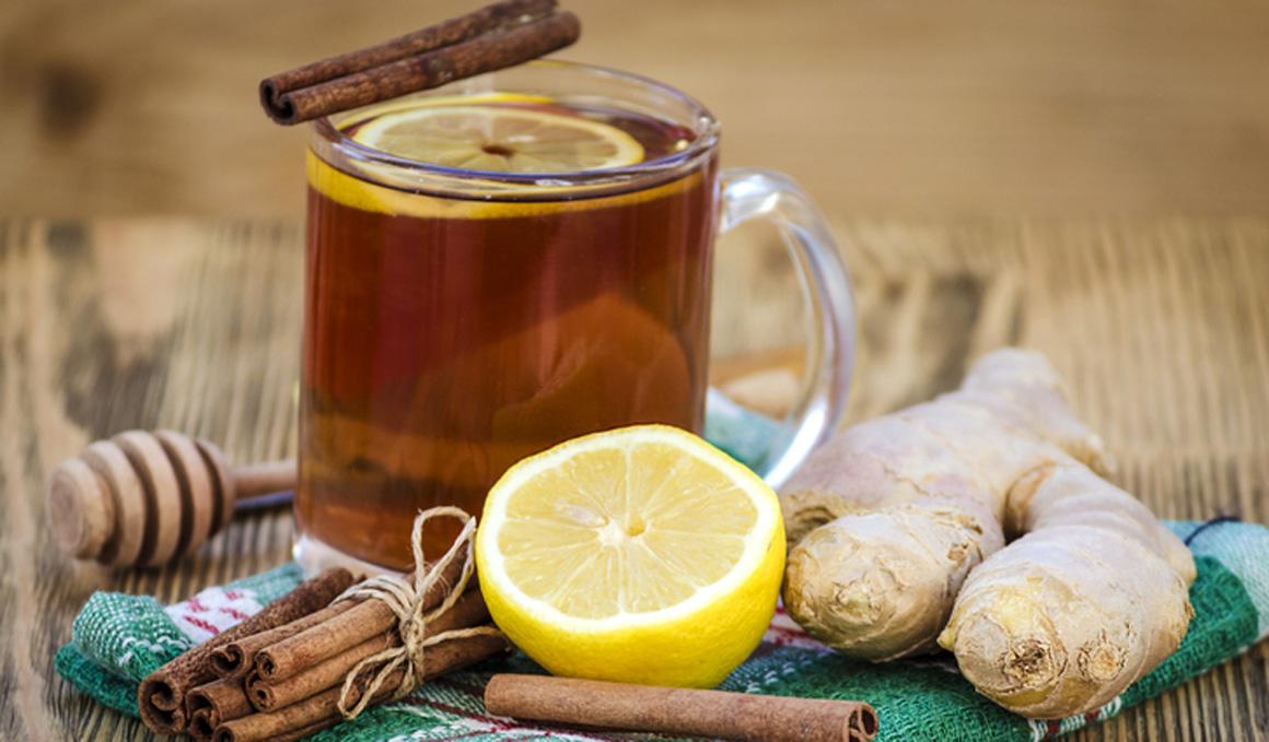 Té de jengibre, limón y canela para ayudarte a perder peso