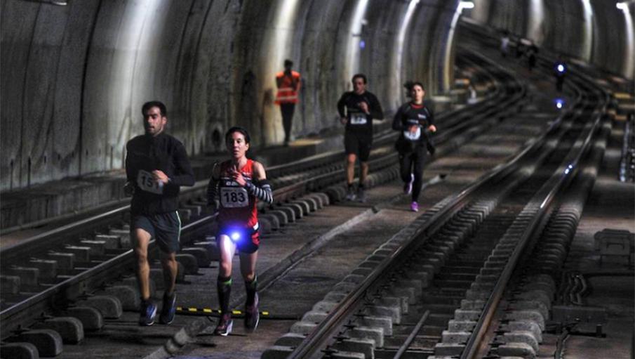 La carrera por los túneles del Metro de Bilbao