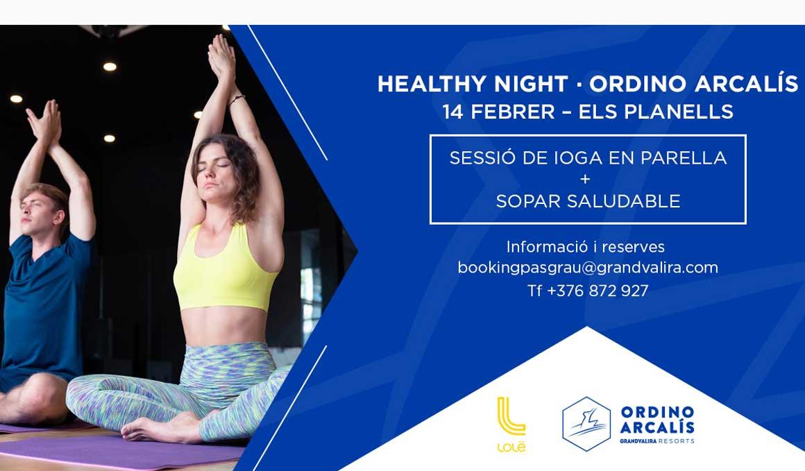 Yoga en parejas y cena saludable en Ordino Arcalís para San Valentín