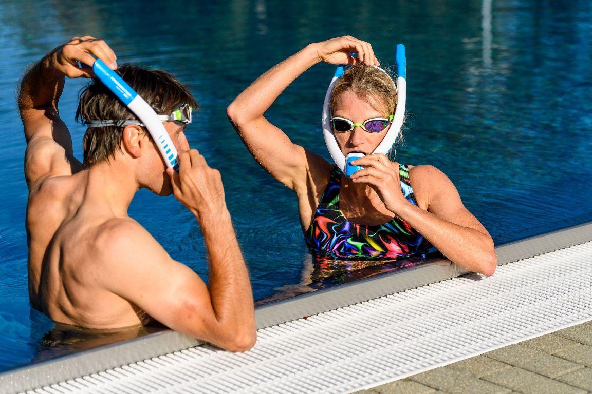 La tuba que cuida los pulmones de los nadadores